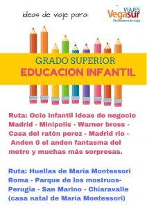 Viajes para estudiantes de educación infantil, magisterio......